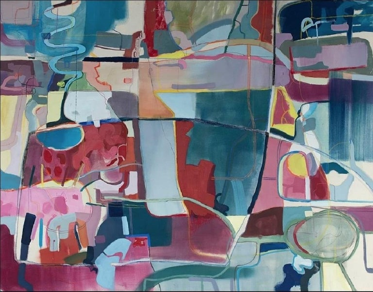 Joanna Cisek Abstract Painting - Untitled - XXI century, Young art, Oil abstraction painting, Colourful