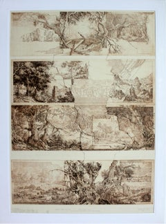 Dutch stories - XXI Century, Etching Print on Paper, Landscape