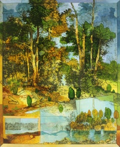 Forgotten sketches - XXI Century, Contemporary Landscape, Colorful, Mixed Media