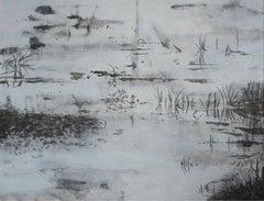 Submerged view VIII - XXI Century, Contemporary Acrylic Landscape Painting