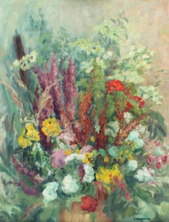 Field flowers - XX Century, Still-life Oil Painting, Colorful, Bright Colors