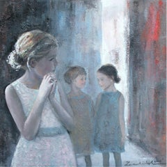 Thoughtfulness IV - XXI Century, Contemporary Figurative Oil Painting, Landscape