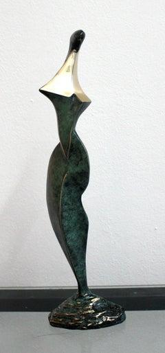 Dame - XXI Century, Contemporary Bronze Sculpture, Abstract, Figurative, Nude