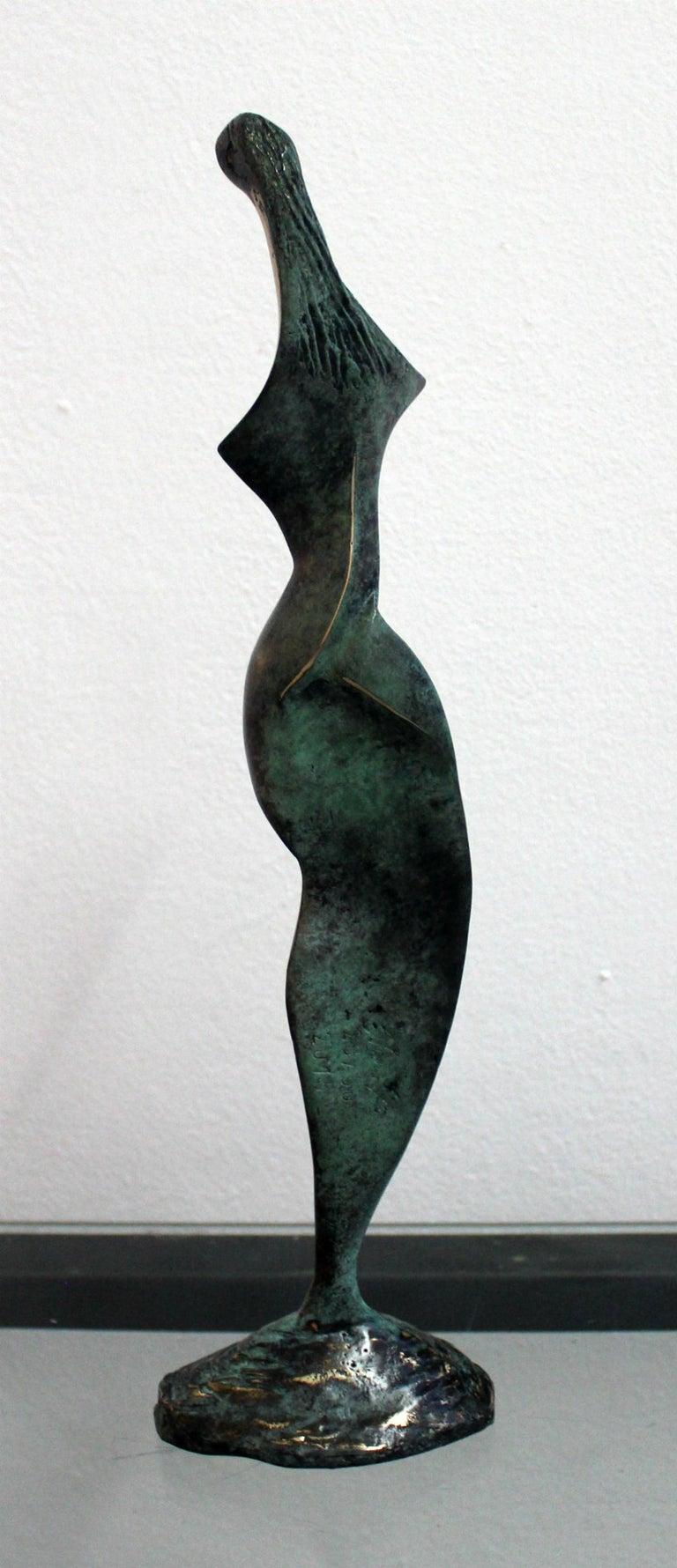 Dame - XXI Century, Contemporary Bronze Sculpture, Abstract, Figurative, Nude - Gold Figurative Sculpture by Stanisław Wysocki