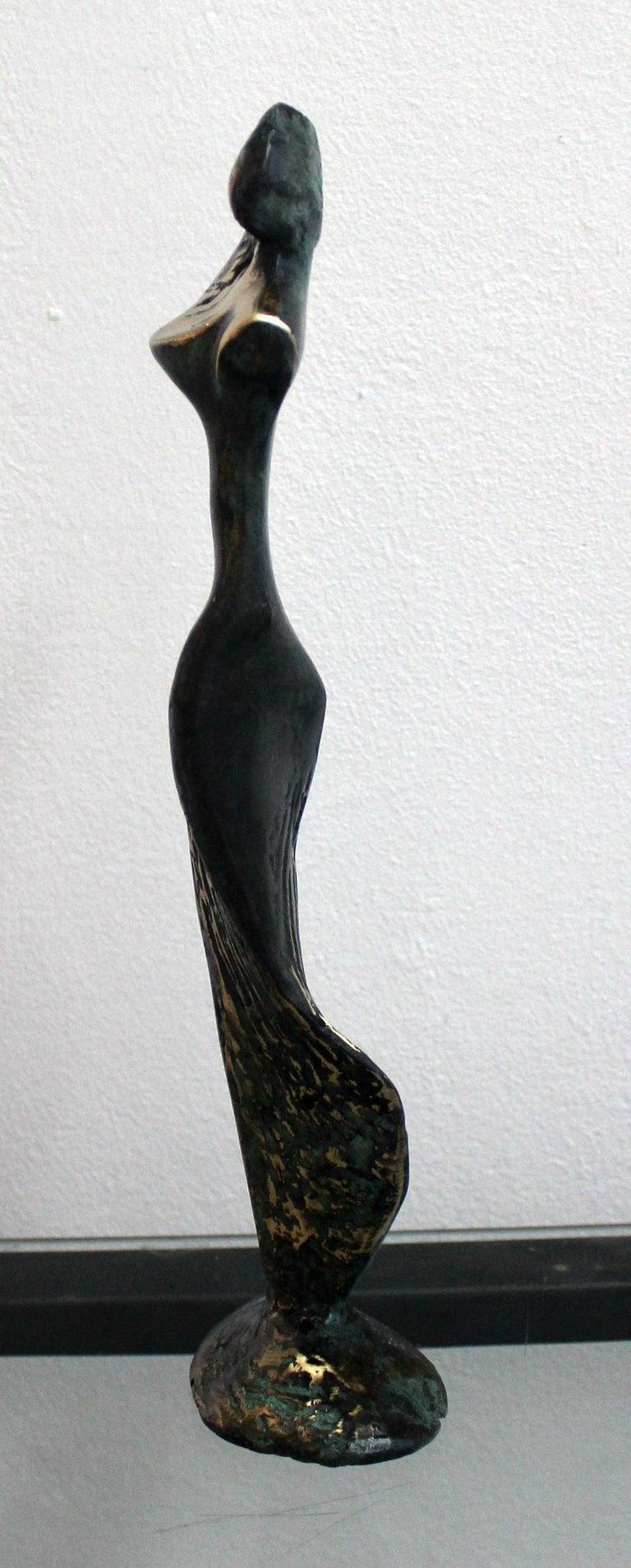 Venus - XXI Century, Contemporary Bronze Sculpture, Abstract, Figurative, Nude - Gold Figurative Sculpture by Stanisław Wysocki