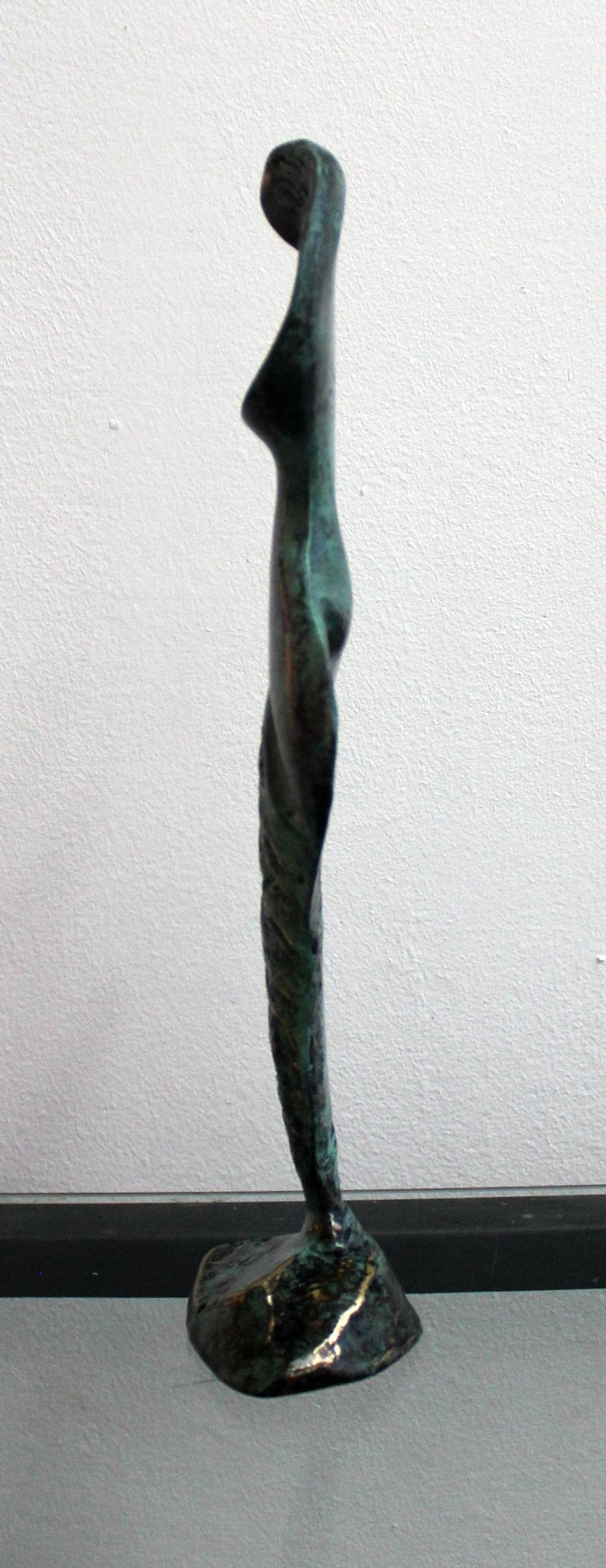 Dame - XXI Century, Contemporary Bronze Sculpture, Figurative, Nude, Abstract - Gold Figurative Sculpture by Stanisław Wysocki