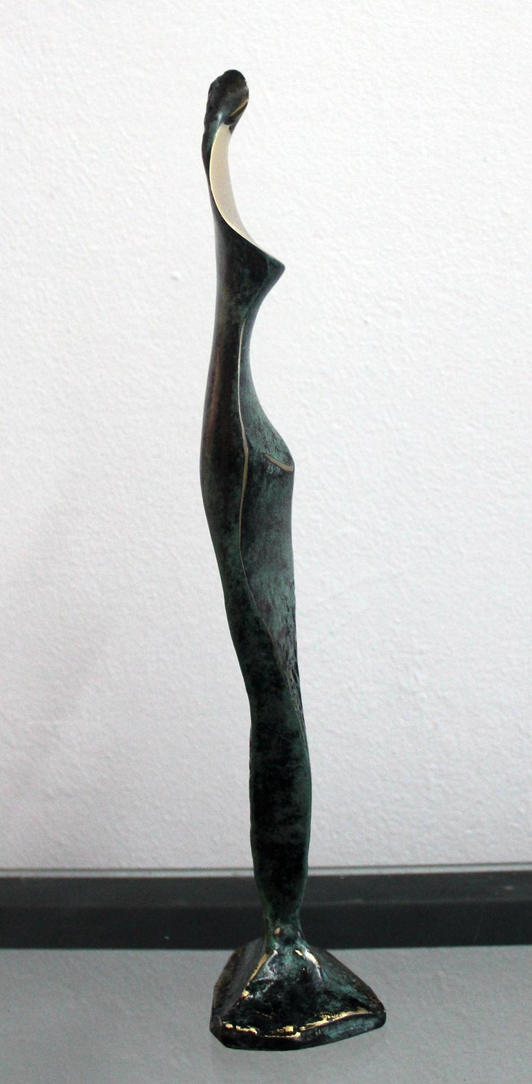 Dame - XXI Century, Contemporary Bronze Sculpture, Figurative, Nude, Abstract For Sale 2