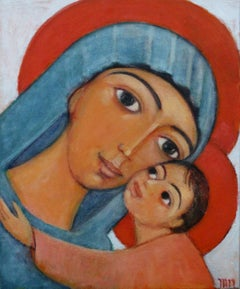 Our Lady of Comfort - XXI Century, Contemporary Figurative Oil Painting, Icon
