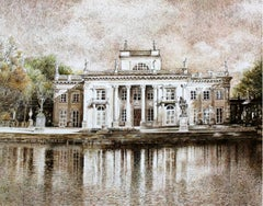 Warsaw, the Royal Lazienki Palace - XXI Century, Contemporary Landscape Drawing