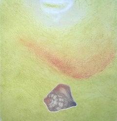 According to Milosz's poetry - XX Century, Figurative Etching Print, Colorful