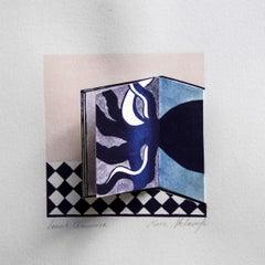 Dream book. Octopus - XXI Century, Contemporary 3D Linocut & Woodcut Print