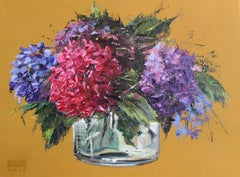 Hydrangea - XXI Century, Contemporary Figurative Floral Oil Painting, Realistic