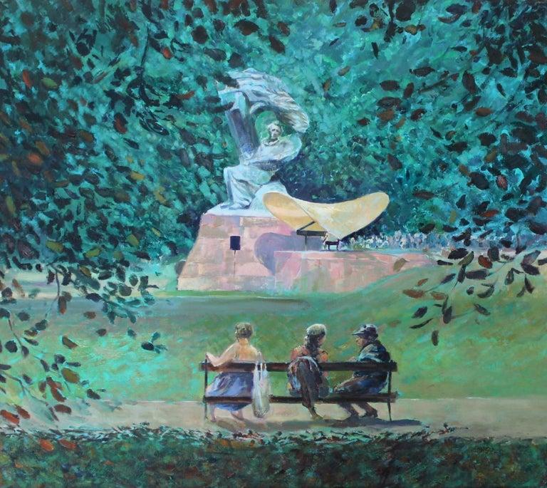 Dorota Zych-Charaziak Landscape Painting - Concert - XXI Century, Contemporary Impressionist Figurative Oil Painting