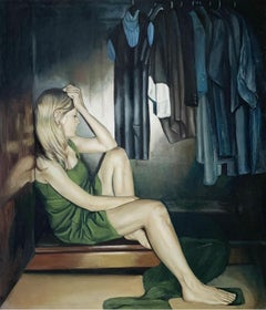 A closet - tribute to Olga Tokarczuk -- Figurative oil painting, Photorealism