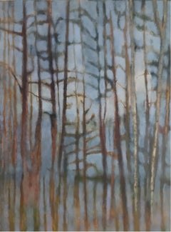 A forest (Silent lanscape) - XXI Century, Contemporary figurative painting