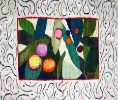 Fruits - Colorful tapestry, Polish 20th century art master, Figurative
