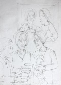 Women - a study -- Contemporary figurative pencil drawing
