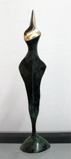 Nude - XXI century, Bronze sculpture, Abstract-figurative