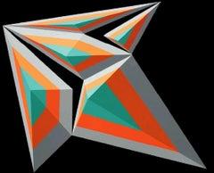 6 Arrow - XXI century, Acrylic painting, Geometrical abstraction, Vivid colours