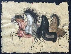 Trot - Contemporary art, Figurative drawing, Animals, Classics