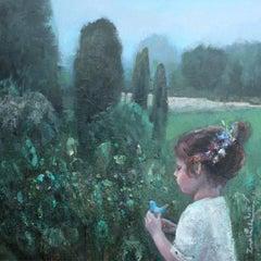 Clay bird - XXI Century, Contemporary Figurative Oil Painting, Landscape