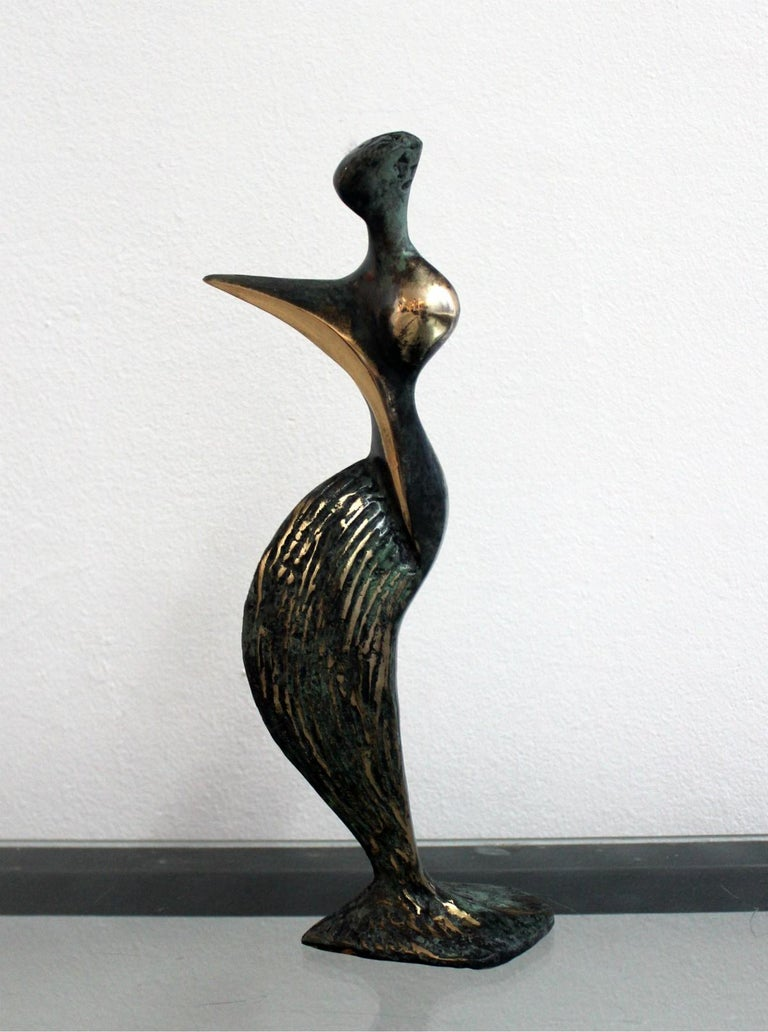 Stanisław Wysocki Figurative Sculpture - Inspiration - XXI Century, Contemporary Bronze Sculptue, Figurative, Abstraction