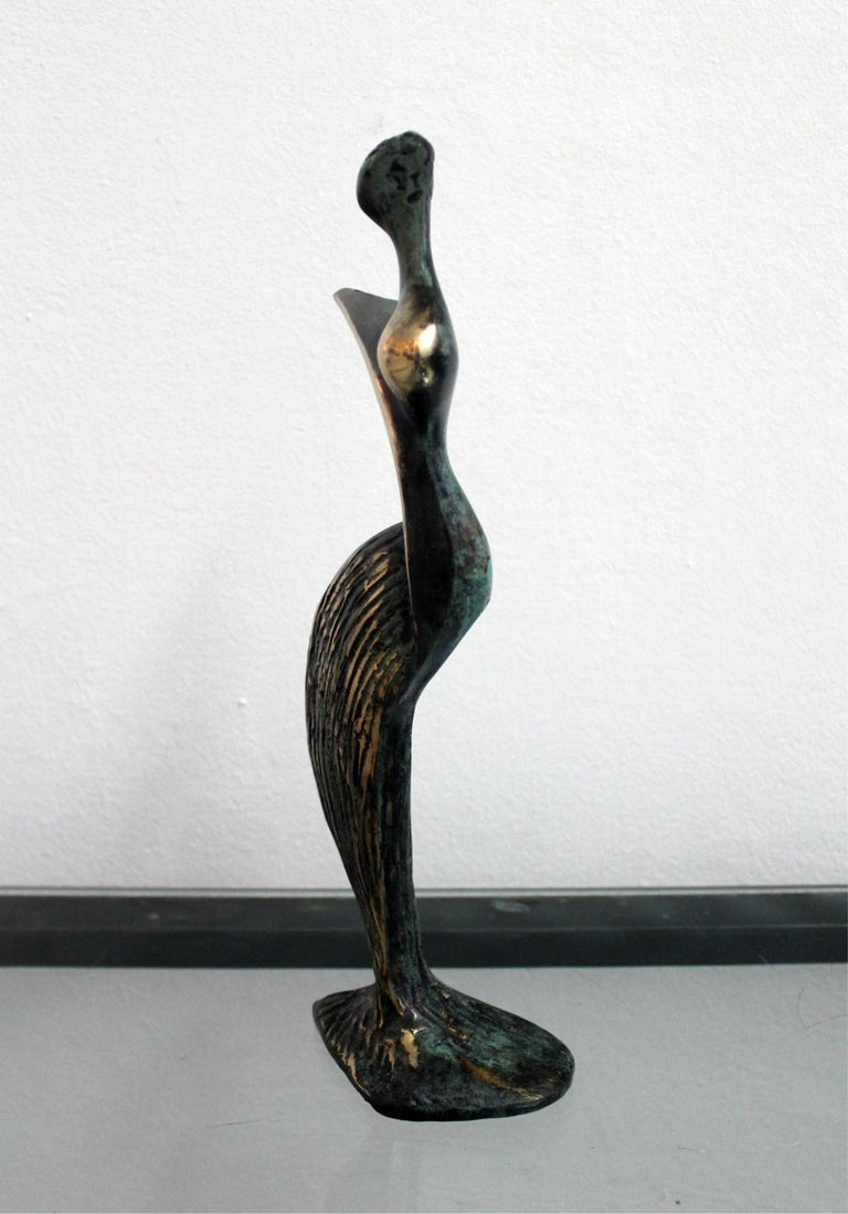 Inspiration - XXI Century, Contemporary Bronze Sculptue, Figurative, Abstraction - Gold Figurative Sculpture by Stanisław Wysocki