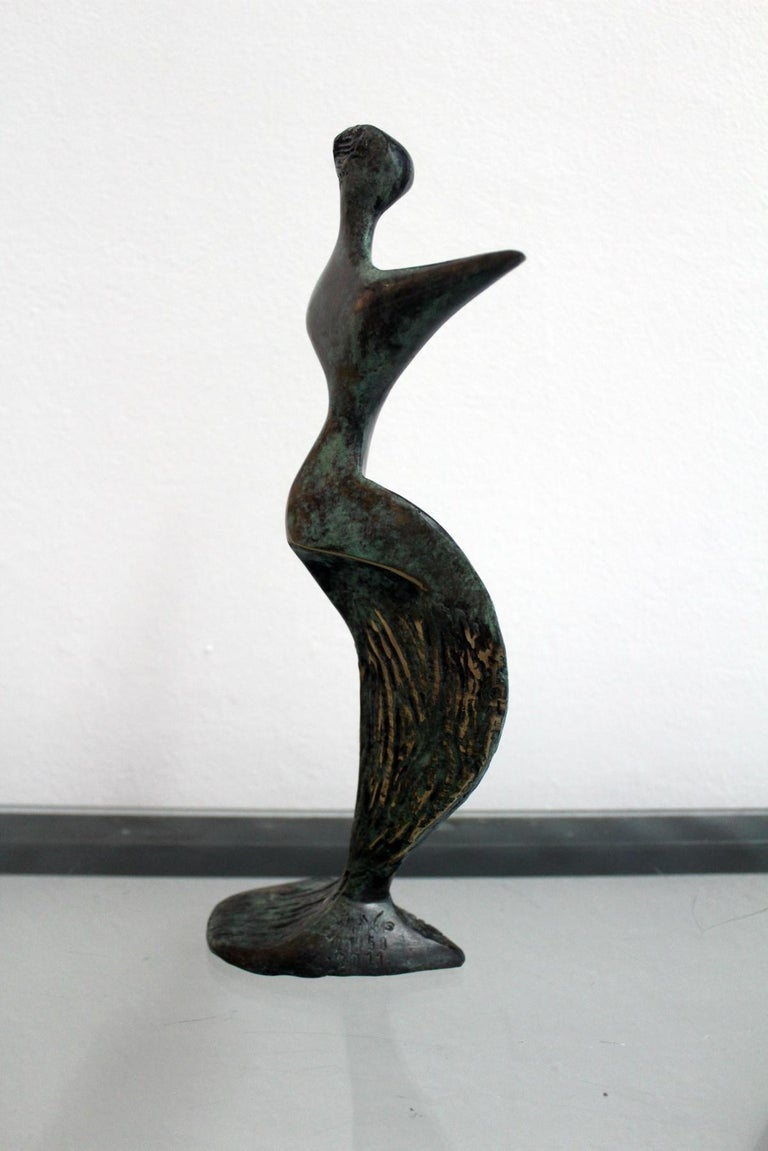 Inspiration - XXI Century, Contemporary Bronze Sculptue, Figurative, Abstraction For Sale 1