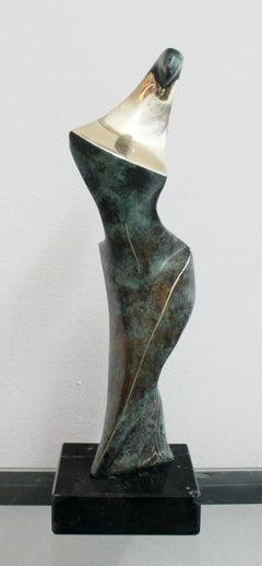 Dame - XXI Century, Contemporary Bronze Sculpture, Figurative, Nude, Abstraction