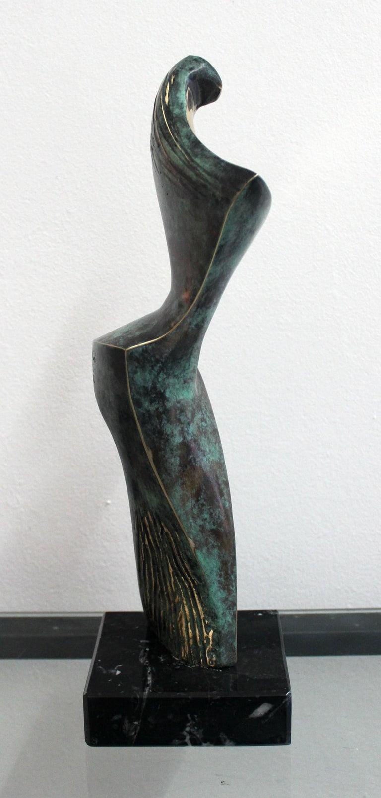 Dame - XXI Century, Contemporary Bronze Sculpture, Figurative, Nude, Abstraction For Sale 2