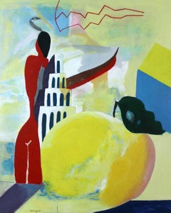White Tower - XXI Century, Contemporary Figurative Acrylic Painting, Colorful