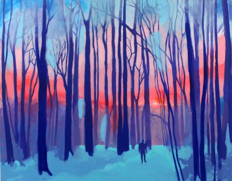Hanna Gąsiorowska Figurative Painting - Kaleidoscope - XXI century Contemporary Art, Colorful Landscape Acrylic Painting