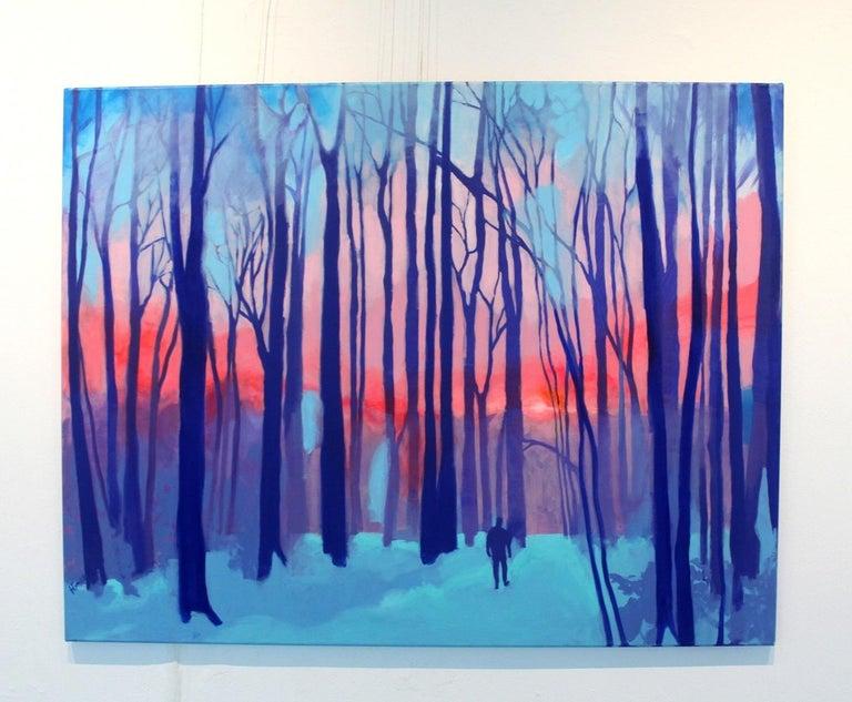 Kaleidoscope - XXI century Contemporary Art, Colorful Landscape Acrylic Painting - Purple Figurative Painting by Hanna Gąsiorowska