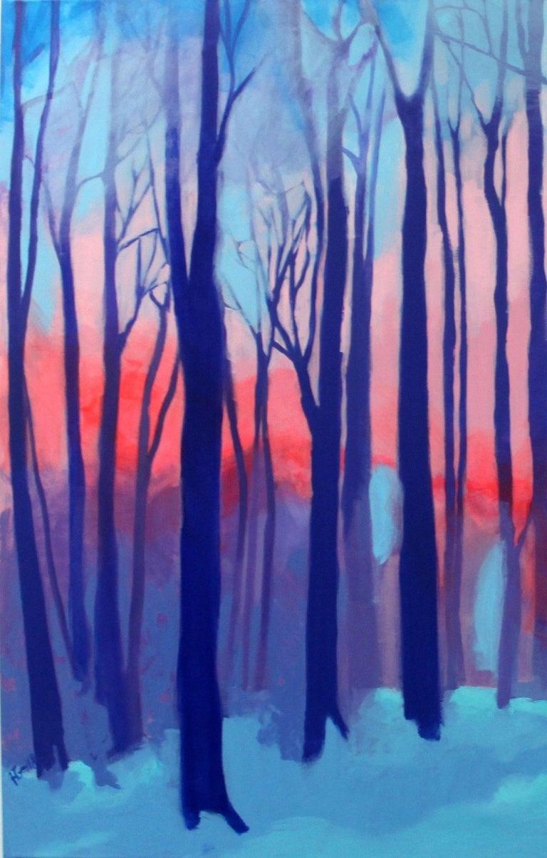 Kaleidoscope - XXI century Contemporary Art, Colorful Landscape Acrylic Painting For Sale 1