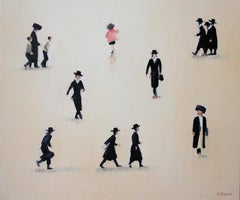 Mea Shearim I- XXI century, Oil on canvas, Israel, Painting, Jerusalem