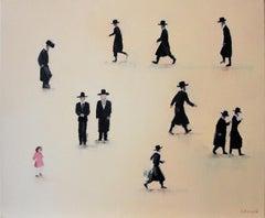 Mea Shearim II- XXI century, Oil on canvas, Israel, Painting, Jerusalem