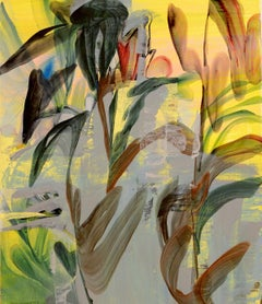 Botanical Forms II - XXI Century Contemporary Abstract Oil Painting, Young Art
