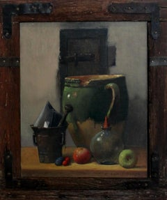 Still life - XXI Century, Contemporary Oil Painting, Muted Colors