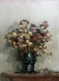 Asters - XXI century, Contemporary Classical Oil Painting, Still life, Realistic