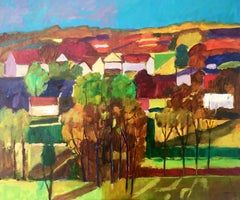 Landscape - XXI century, Contemporary Landscape Oil Painting, Colorful