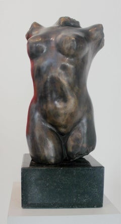 Nude - XXI Century, Contemporary Bronze Figurative Sculpture, Female Torso