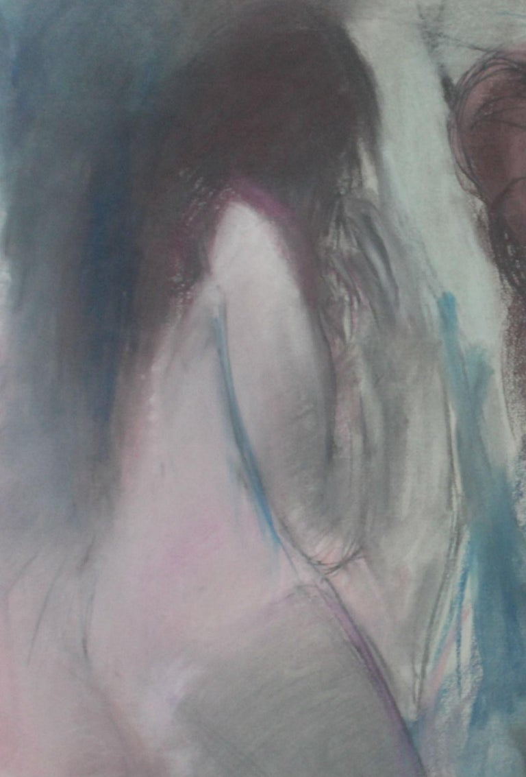 Nudes - XX Century, Contemporary Figurative Pastel Drawing, Muted Colors - Other Art Style Art by Radlinska