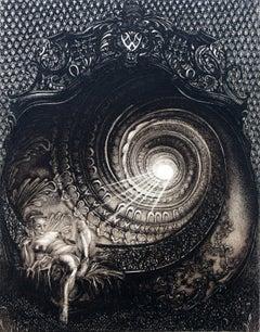 Birth of Venus - XX Century, Figurative Etching Print, Nude, Mythology