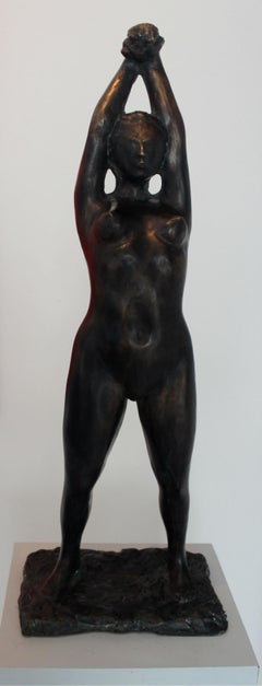 Woman - XXI Century, Contemporary Bronze Figurative Sculpture, Female Nude