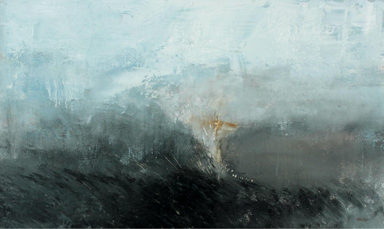 Monika Rossa Abstract Painting - Landscape - XXI century, Contemporary Oil & Acrylic Painting, Abstraction