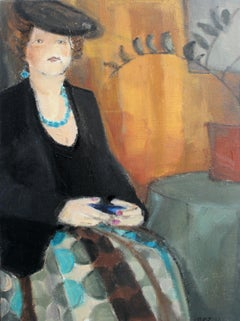 Dorota - XXI Century, Contemporary Figurative Oil Painting, Portrait, Interior