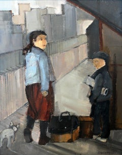 On the run - XXI Century, Contemporary Figurative Oil Painting