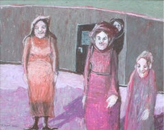 Meeting - XXI Century, Contemporary Figurative Pastel Drawing