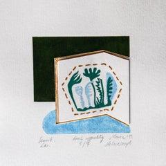 Dream book. Forest - XXI Century, Contemporary 3D Linocut & Woodcut Print