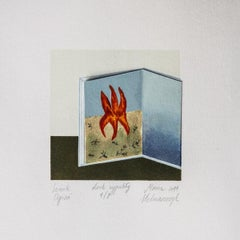 Dream book. Fire - XXI Century, Contemporary 3D Linocut & Woodcut Print